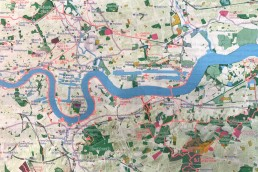 Detail of London National Park City map