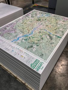 London National Park City map - ready to be folded