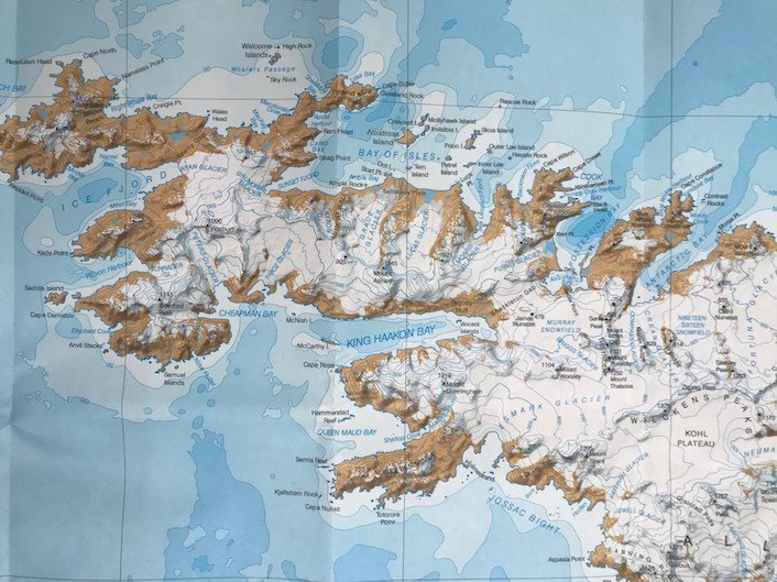 Sir Ernest Shackleton - map showing route of crossing ...