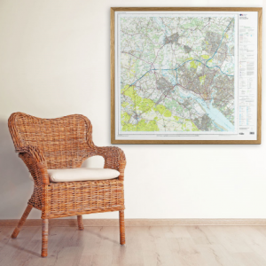 Hanging a custom made maps
