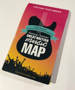 Marvellous Music Map from Dennis Maps
