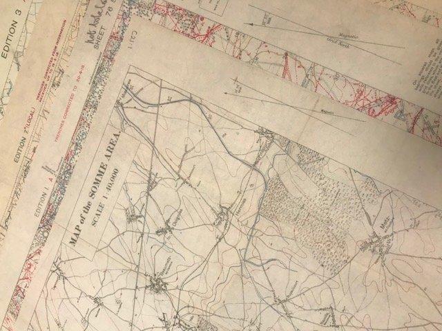 Trench Warfare Maps of World War 1 - Dennis Maps bringing WW1 to life