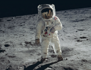 Man walking on the moon - Moon Map Apollo 11