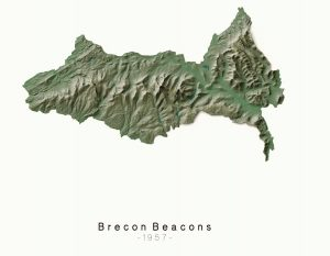National Parks Breacon - Dennis Maps Ordnance Survey poster