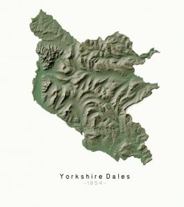 National Parks Yorkshire Dales - Dennis Maps - Ordnance Survey poster